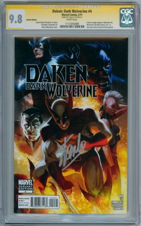 Daken Dark Wolverine #4 Djurdjevic Retail Variant 1:75 CGC 9.8 Signature Series Signed Stan Lee Marvel Now comic book